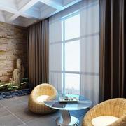 时尚新古典风格小阳台设计装修效果图