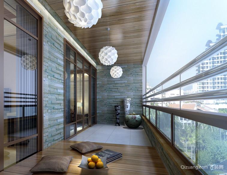 100平米两居室古典风情阳台装修图片