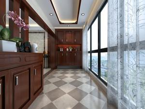 简约新古典139平米家居阳台装修设计图