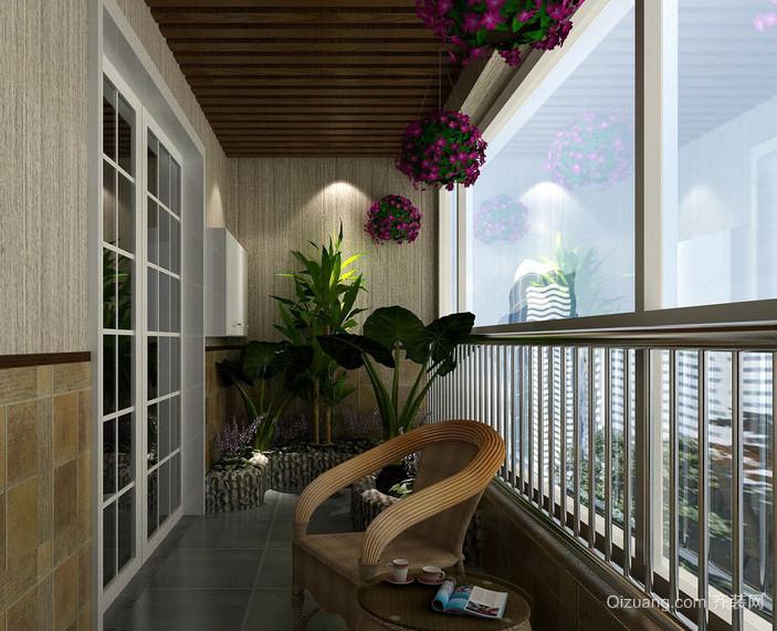 富有自然气息的东南亚阳台装修效果图片