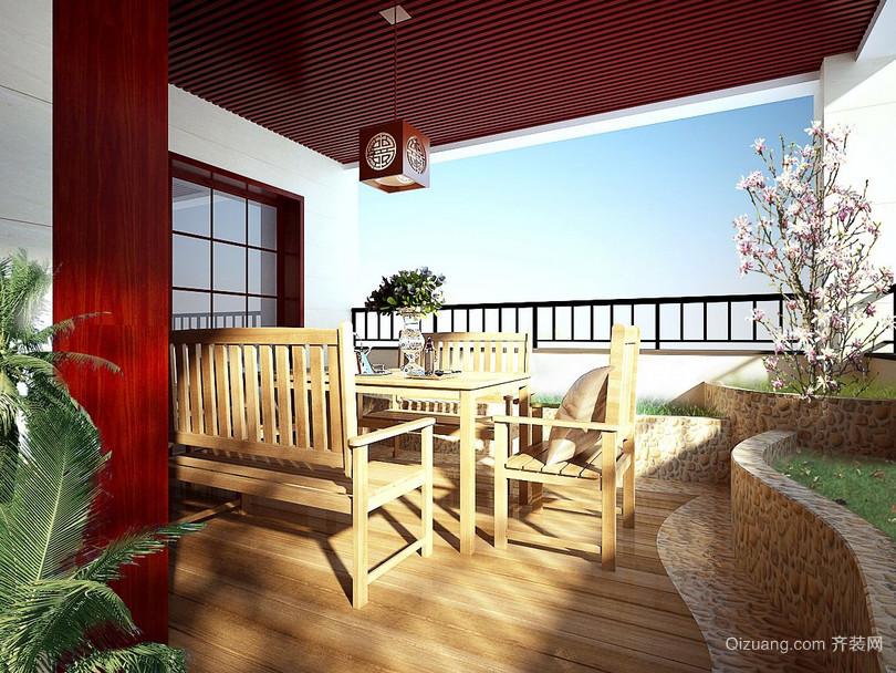 82平米小户型混搭风格阳台装修设计图