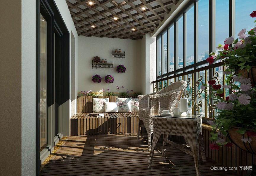 舒适惬意的家居生活阳台装修设计图