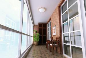 简约复古风狭长阳台装修实景效果图