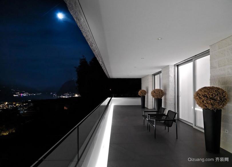 222平米大型后现代阳台装修设计效果图