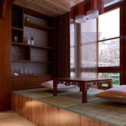 古典风味的阳台榻榻米装修设计效果图