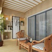 复式楼古典日式风格阳台装修设计图
