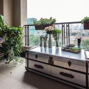 后现代风格别致小公寓阳台装修实景图片