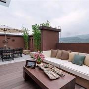 2016古典大别墅舒适阳台装修效果图片