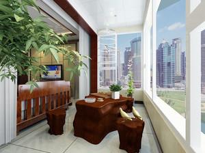 76平米家居新古典阳台茶几装修设计图