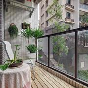 65平米小户型韩式简约风阳台装修设计图