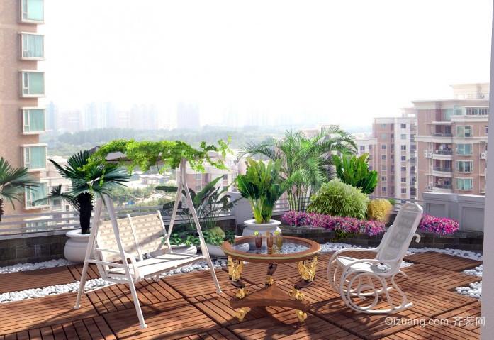 韩式田园单身公寓阳台装修设计效果图