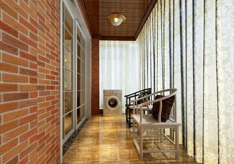 98平米家居新古典阳台装修设计效果图