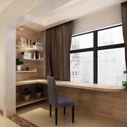浅色调韩式小户型阳台书房装修图片