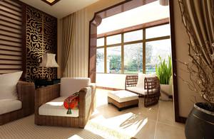 异域风情:东南亚风格小阳台装修设计图