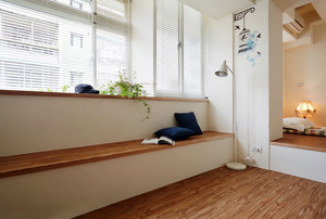 韩式温和小公寓阳台榻榻米装修设计图
