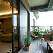 韩式风格两室一厅小阳台装修图片