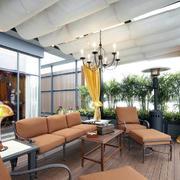 时尚430平米别墅古典阳台装修效果图片