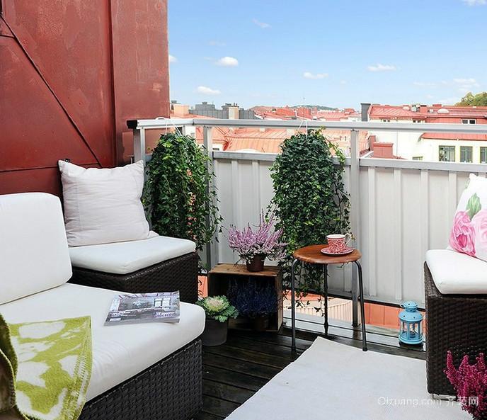 新古典格调的公寓阳台装修实景效果图