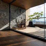 2016别墅后现代风格阳台装修设计图