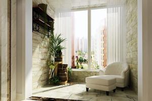 小清新韩式风格两居室阳台装修实景图片