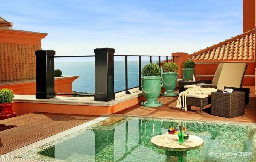 奢华别墅新古典韵味的阳台装修图片
