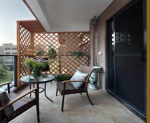 简约古典小户型阳台装修设计效果图