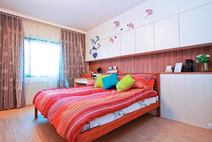 大户型韩式简约风儿童房床头柜装修效果图