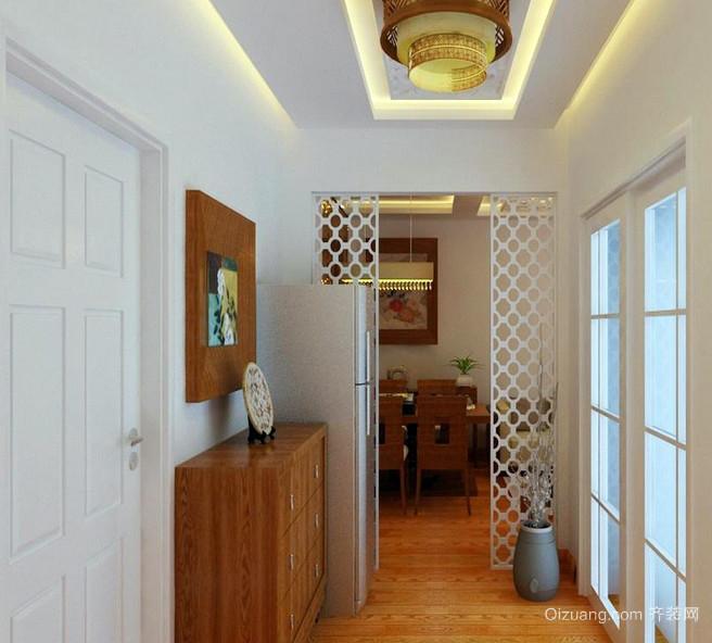 小户型朴素古典的玄关装修设计效果图