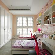 甜美前卫的双胞胎儿童房装修效果图