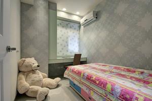 北欧风格14平米儿童房液体壁纸装修效果图