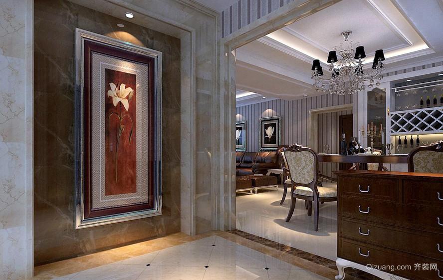 2016新古典玄关装饰画装修设计效果图