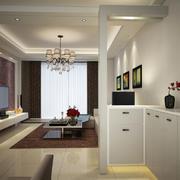 77平米两居室玄关鞋柜装修设计效果图