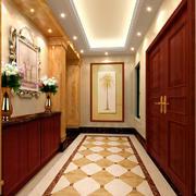 两居室现代美式风格玄关装修设计效果图