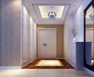 156㎡家居简洁韩式风玄关装修设计效果图