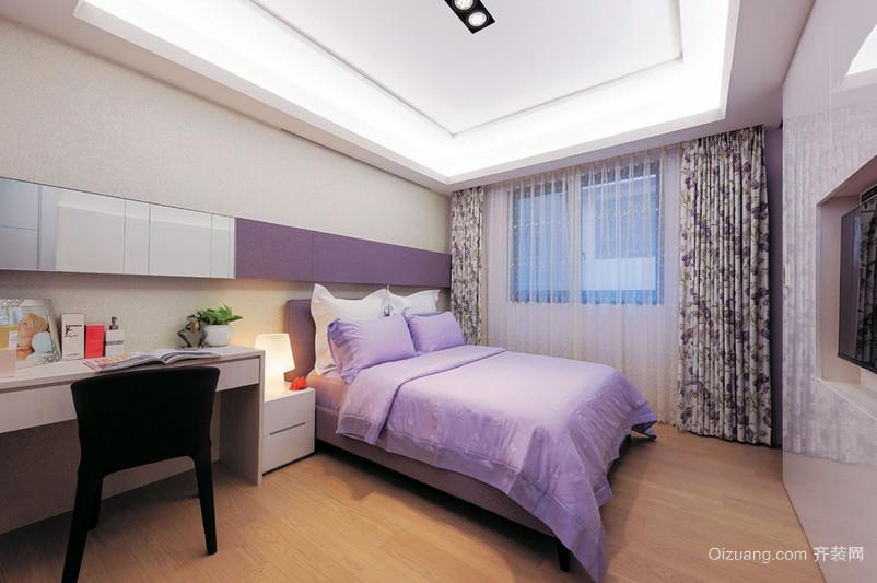 浅紫色的小户型韩式儿童房装修效果图
