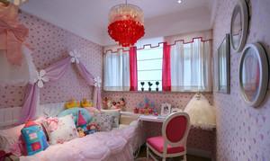 甜美韩式风格小女孩儿童房装修效果图