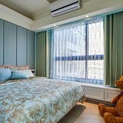 大户型韩式儿童房飘窗窗帘装修效果图