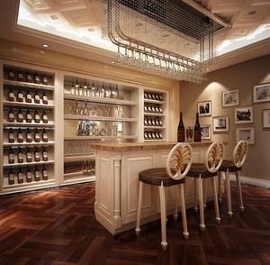 2016复式楼古典欧式风酒柜效果图片