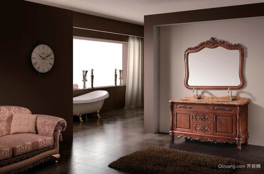 别墅型现代室内欧式浴室装修效果图