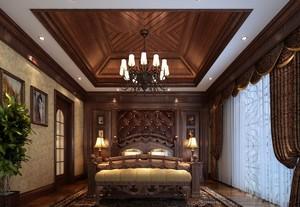 2016别墅复古卧室吊顶装修设计效果图