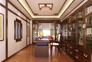 古典中式风两室一厅书房设计装修效果图