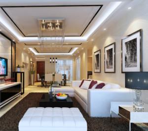 现代室内欧式石膏板吊顶装修效果图实例