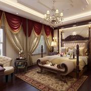 2016古典豪华大卧室吊顶装修设计效果图