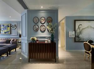 古典132平米家居玄关照片墙设计效果图