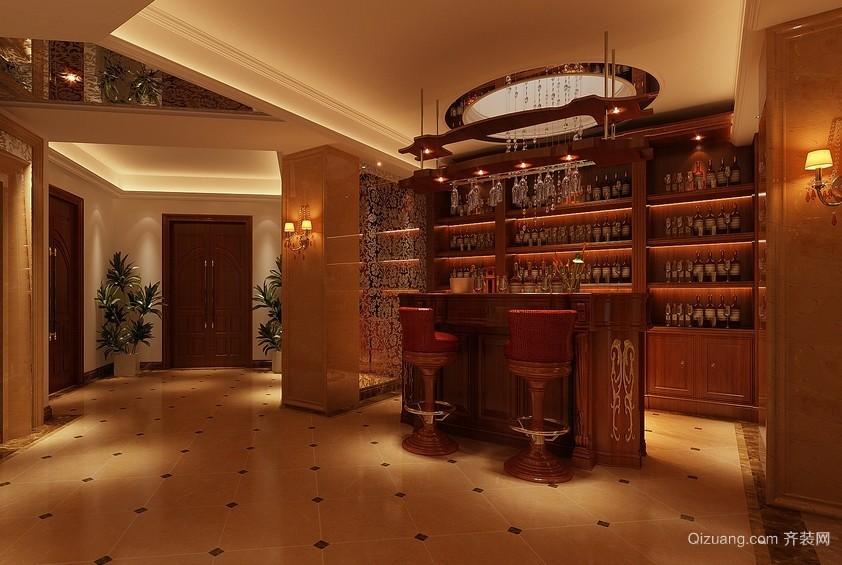 优雅空间:复式楼古典风格酒柜效果图片