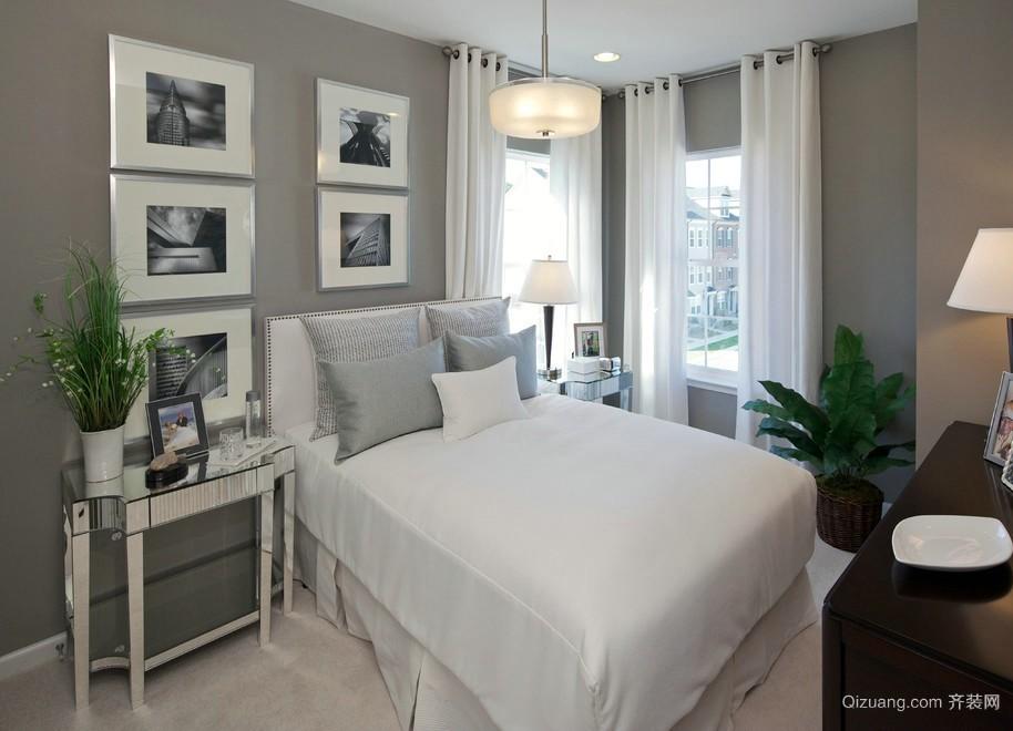 2016后现代风格卧室照片墙设计效果图