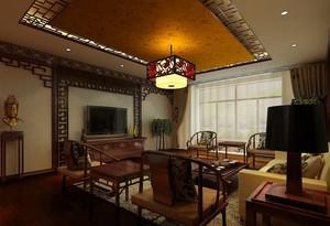 复古别致的小客厅吊顶装修设计效果图