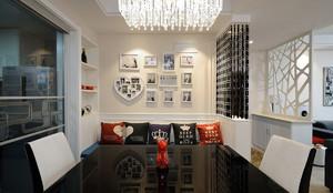 现代95平米婚房时尚照片墙设计效果图