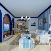 大户型地中海风格客厅装修效果图实例欣赏