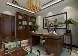 2016单身公寓中式风格书房装修效果图鉴赏